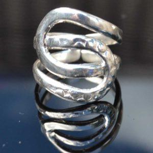 Zilveren ring Cleo