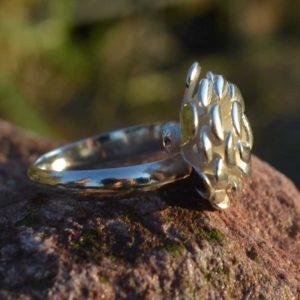 Zilveren ring Bloem 2