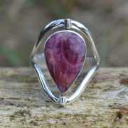 Zilveren ring Dubbel steen 1708 3