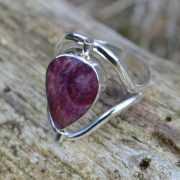 Zilveren ring Dubbel steen 1708 2