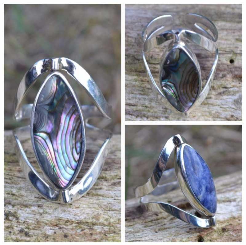 Zilveren ring Zee