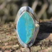 Zilveren ring met dubbel steen 1701 3