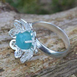 Zilveren ring Filigraan Bloem IV