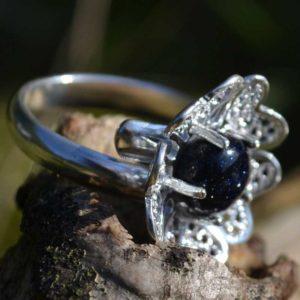 Zilveren ring Filigraan Bloem V