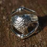 Zilveren ring Hart 3
