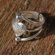 Zilveren ring Hart 2