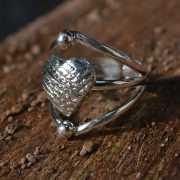 Zilveren ring Hart 4