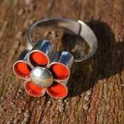 Zilveren ring Huayruro Bloem 3
