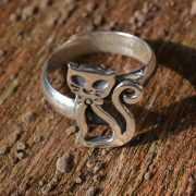 Zilveren ring Kat I 2