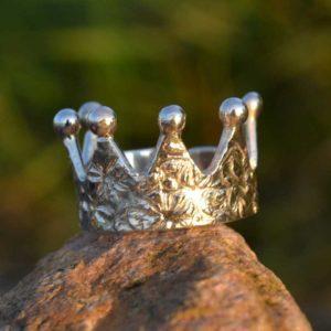 Zilveren ring Kroon