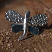 Zilveren ring Libelle 3