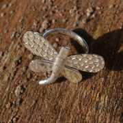 Zilveren ring Libelle 2