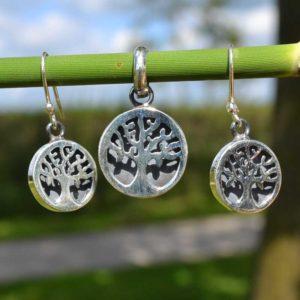 Zilveren set Levensboom